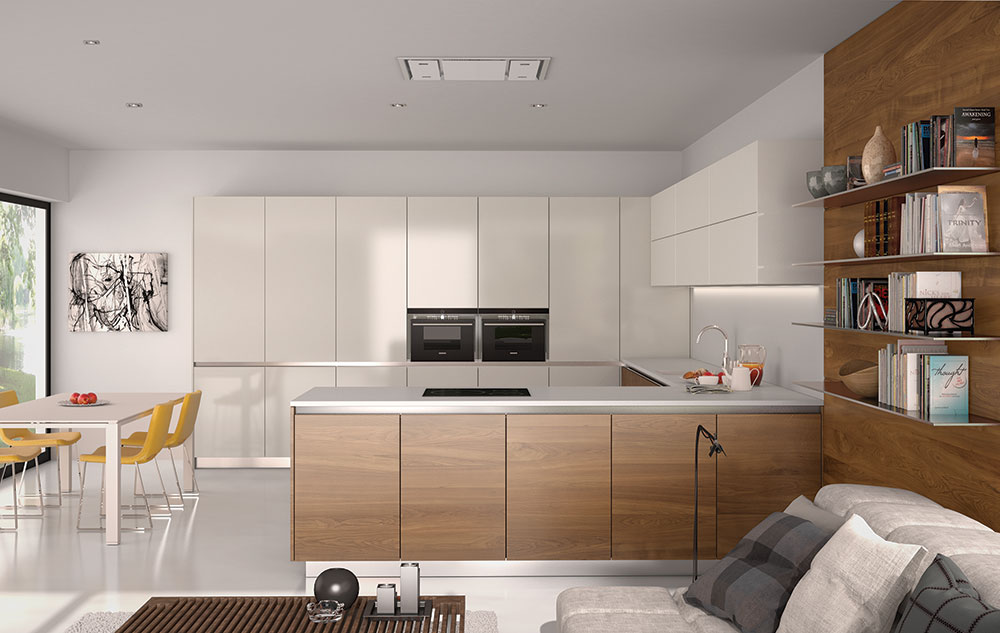 Render 3d de muebles de cocina de dise o estudibasic for Mobiliario para cocina