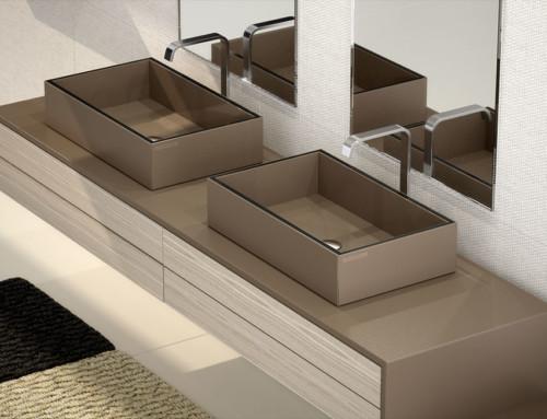 Infografía 3D de ambientes de baño y revestimientos