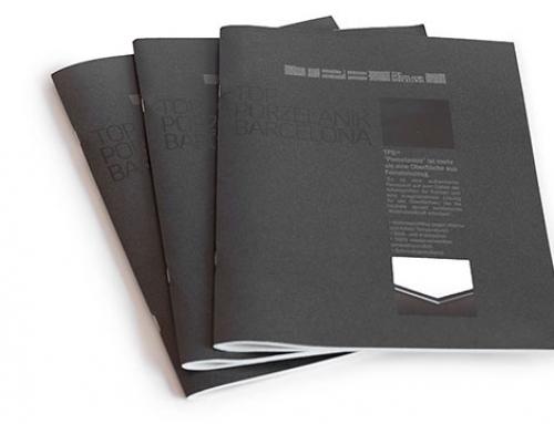 Diseño editorial de catálogo de encimeras