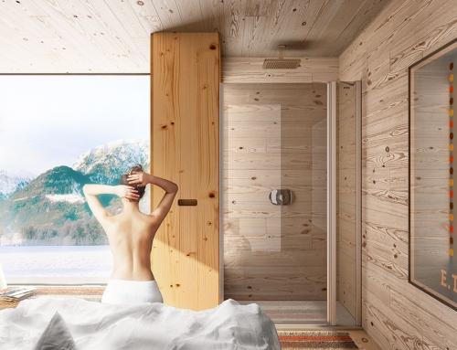 Imágenes virtuales de mamparas de baño