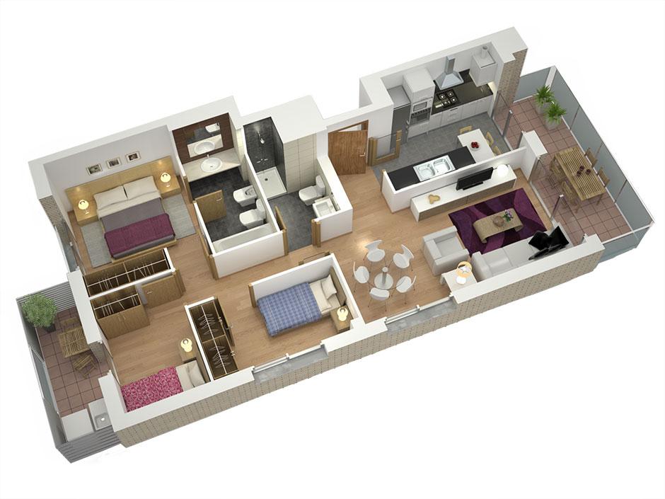 1 Room Apartment Mexico