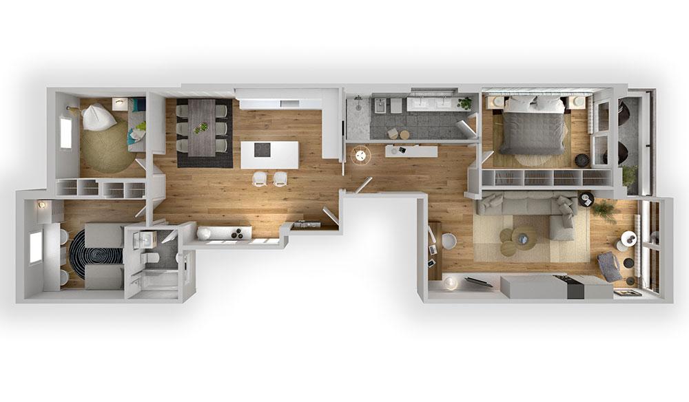 Planos de casas en 3d para venta inmobiliaria estudibasic for Casas 3d