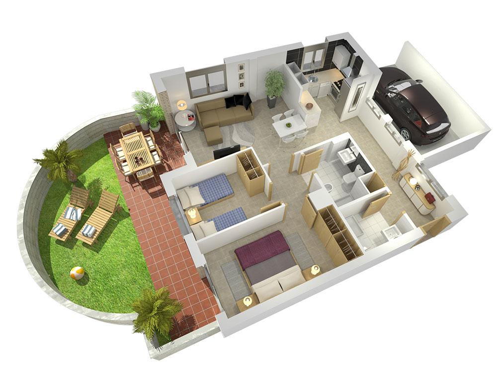 estudibasic plantas 3d casas - Planos De Casas