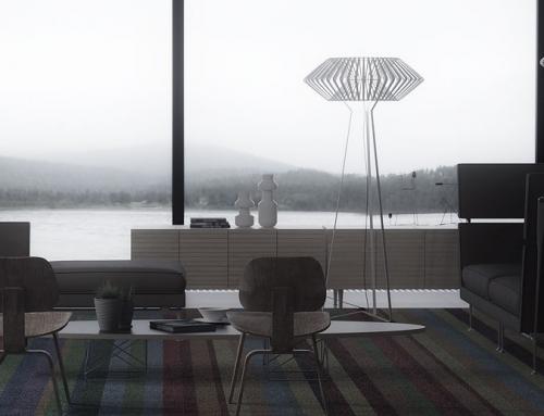 Renders interiores de casas de diseño contemporáneo