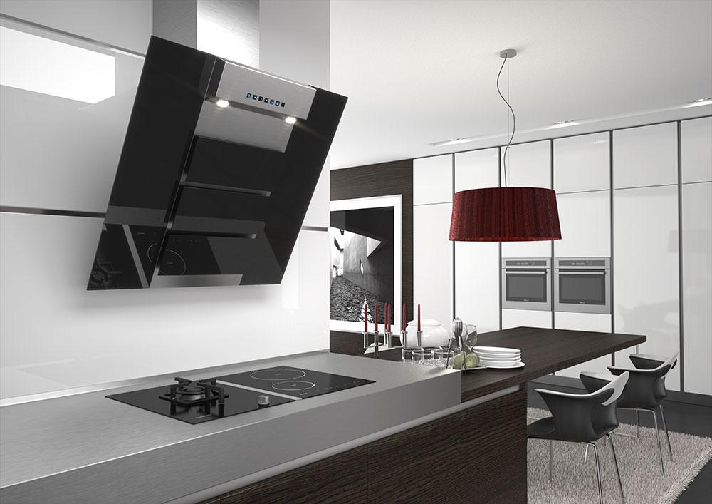 Renders 3d de campanas de cocina para cat logo estudibasic - Campanas modernas para cocinas ...