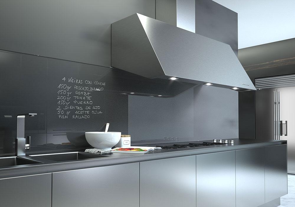 Renders 3D de campanas de cocina para catálogo ⋆ estudibasic