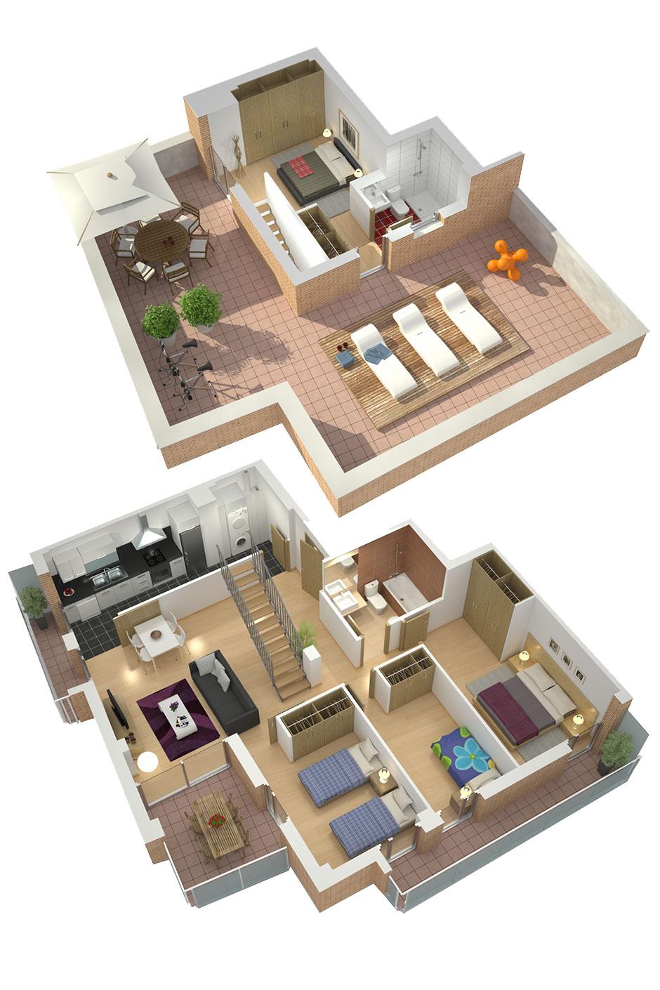 estudibasic-plantas-3d-axonometricas-casas