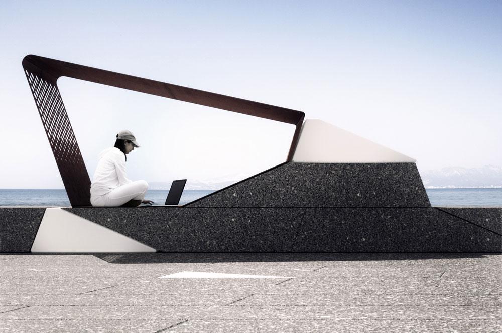 Renders de mobiliario para concursos de diseño
