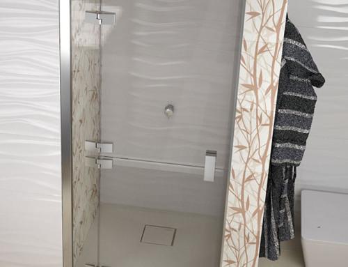Imágenes virtuales de mamparas de baño fotorrealistas
