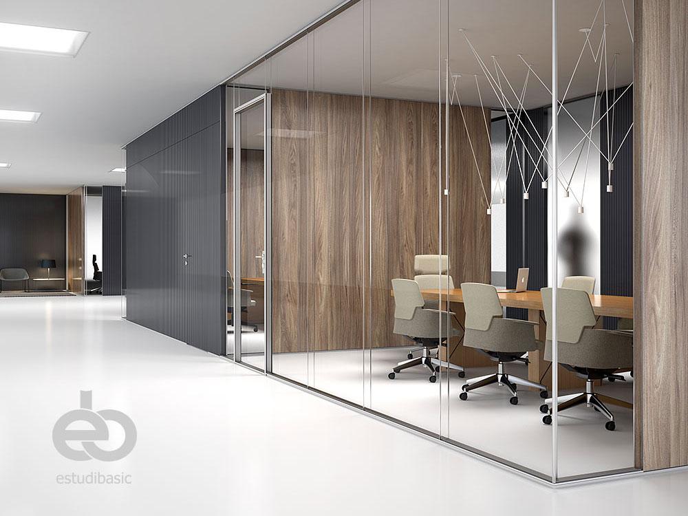 Renders y dise o de oficinas 3d estudibasic for Diseno de interiores oficinas modernas