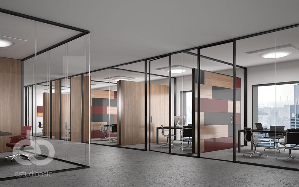 Renders y dise o de oficinas 3d para cat logo de mamparas for Diseno de oficinas pdf