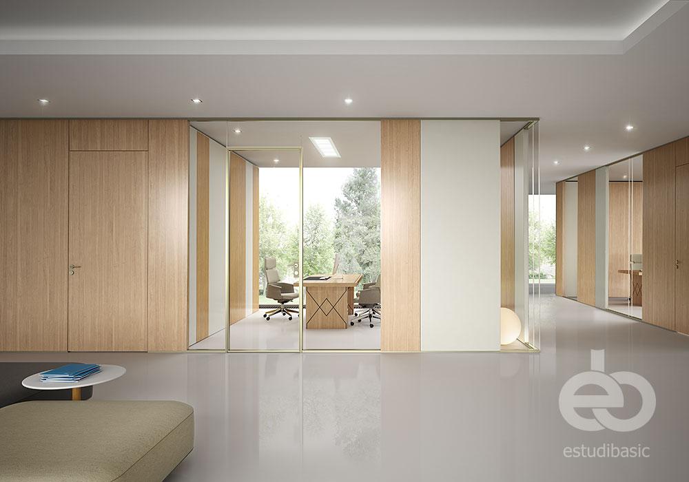 Renders y dise o de oficinas 3d estudibasic for Oficinas interiores