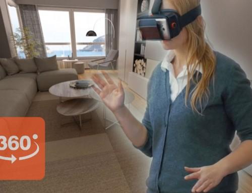 Recorrido virtual interactivo 360 de arquitectura 3D de edificio de viviendas