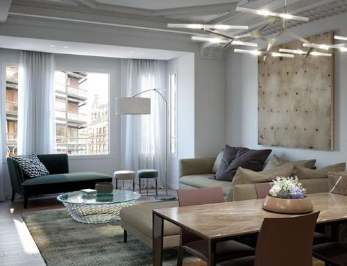 Renders de apartamentos en 3D de alto standing