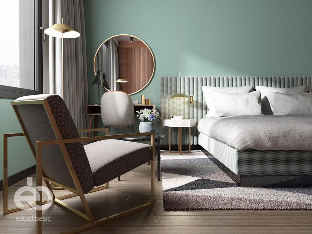 Renders 3D para interiorismo de hoteles de alto standing