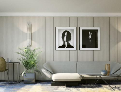 Render interior 3D de suites de hotel exclusivas