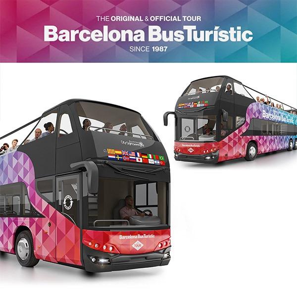 Modelado en 3D del Barcelona Bus Turístico