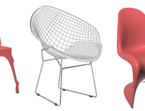 Modelado 3D y render de muebles de baja poligonización