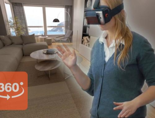 Tour virtual 360 grados de interiores 3D para venta de viviendas