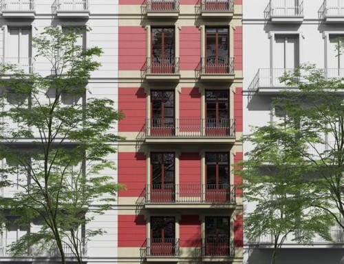 Render arquitectura 3D para rehabilitación de edificios de viviendas